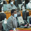 Dr.Frank Habineza in Parliament