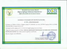 DGPR's Registration Certificate
