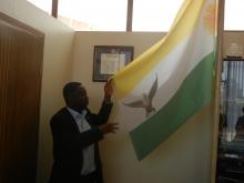 Democratic Green Party of Rwanda's Flag
