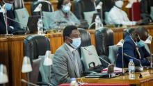 Dr.Frank Habineza in Parliament