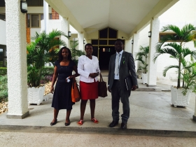 DGPR's President, VP and Treasurer at Parliament