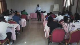 Secretary General, Jean Claude Ntezimana, training members