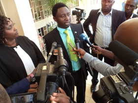 DGPR's President, addressing the media at the Supreme Court