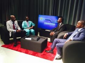 Dr.Frank Habineza na Hon.Mukama Abbas, M.Evode Uwizeyimana na Cleophas Barore