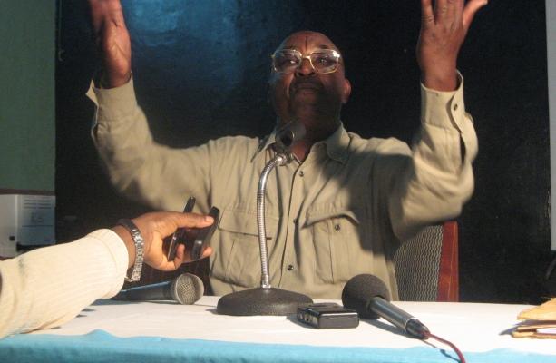 Andre Kagwa Rwisereka at the Green Party Congress