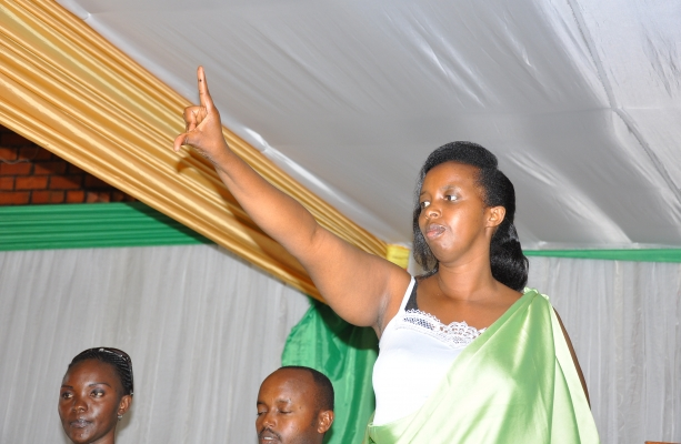 DDPR's Vice President, demonstrates the party symbol