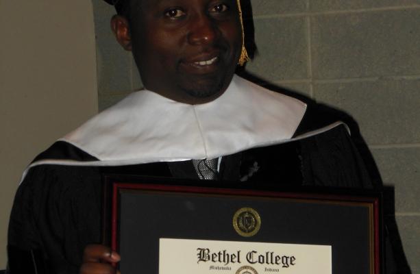 Dr.Frank Habineza, recieving the Doctorate