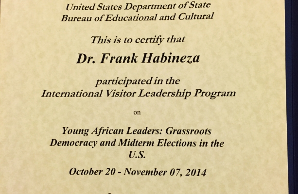 IVLP certificate from State Dept