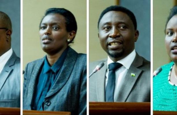 Dr.Ngabitsinze, Mme Nyirarukundo, Dr.Habineza and Mme Muhongayire