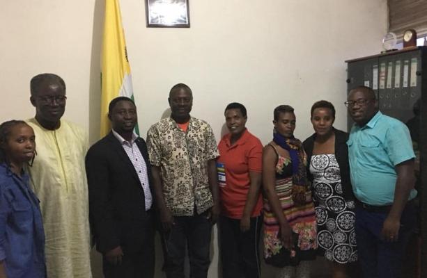 Prof Papa Meissa Dieng with Rwandan Greens