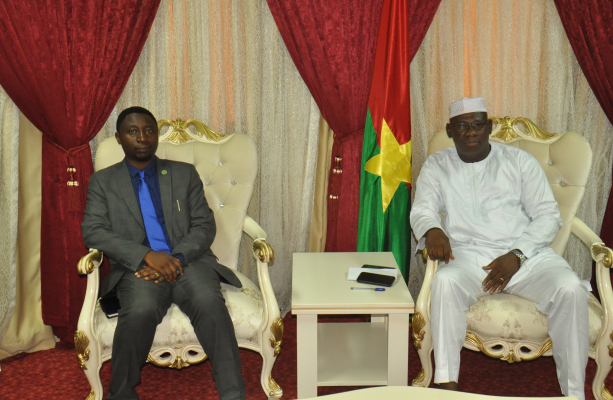 Dr.Frank Habineza, AGF President with the Deputy speaker of National Assembly